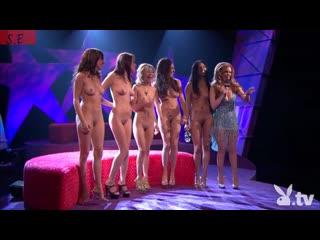 Прослушивание, голые на сцене, голый конкурс  девушки, желающие стать порнозвёздами, на эротическом телешоу