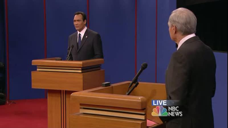 Дебаты кандидатов в президенты США от либеральной и демократической партии в сериале Западное крыло