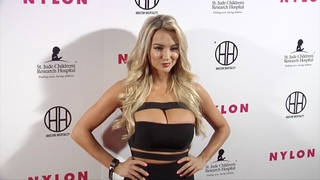 Lindsey Pelas NYLON Muses & Music Grammy Pre-Party Red Carpet in Los Angeles