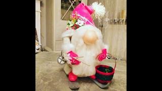 Скандинавский гном, Работа из фоамирана.DIY Weihnachtsdekoration Упаковываем красиво.Урок1