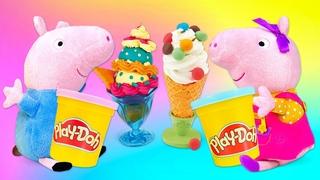 Jeux avec Peppa pig. Vidéos divertissantes pour enfants avec jouets en peluche.