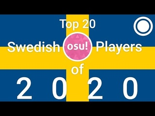 The top 20 osu! players of Sweden 2020