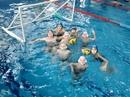 Наше первое фото в бассейне Волна! Сегодня уже играли на глубокой части - было тяжело, но интересно)