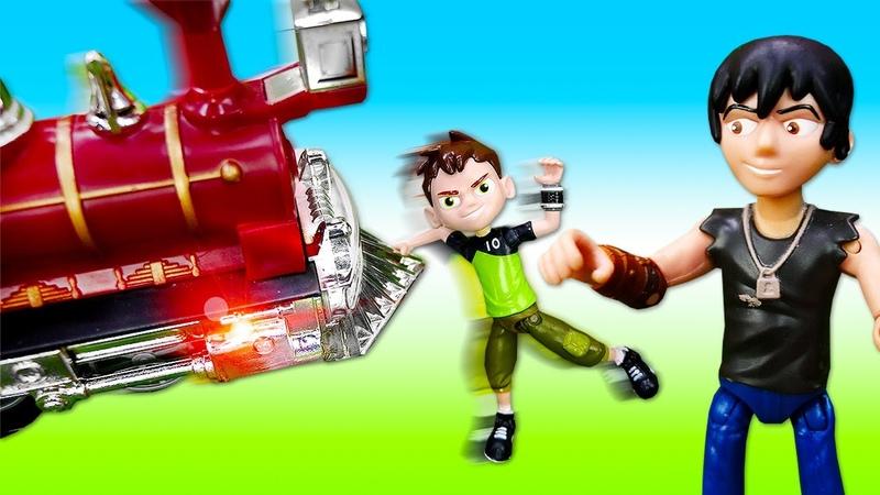 Cartoon Network Türkçe Ben 10 trenle tatile gidiyor ve kaza yapıyor Oyuncak tren yolu