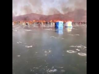 пожар на рыбалке