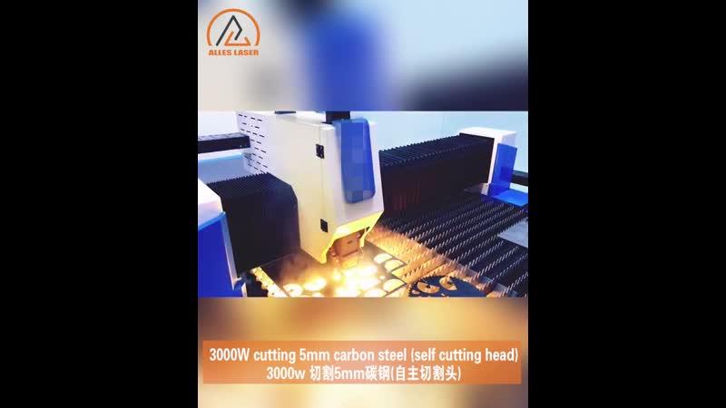 3000 Вт резка углеродистой стали 5 мм автономная режущая головка