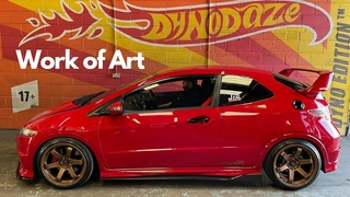 Modified Honda Civic FN2 TypeR is Stunning on Rolling Road