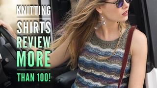 Вяжем МАЙКИ спицами: более 💯 красивых моделей / Knitting SHIRTS REVIEW