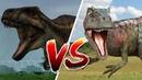 Битва динозавров. Акрокантозавр против Аллозавра. Jurassic World Evolution. Dinosaur battle