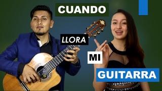 CUANDO LLORA MI GUITARRA cover /Diego Barrera FEAT María José Villalba