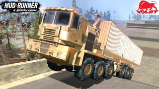 Spintires: MudRunner - MZKT 79086 Giant Military Truck Endurance Tests Under Extreme Conditions