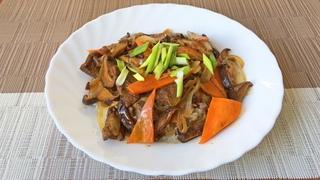 Говядина с грибами Шиитаке | Простой рецепт за 20 минут | Корейская Кухня