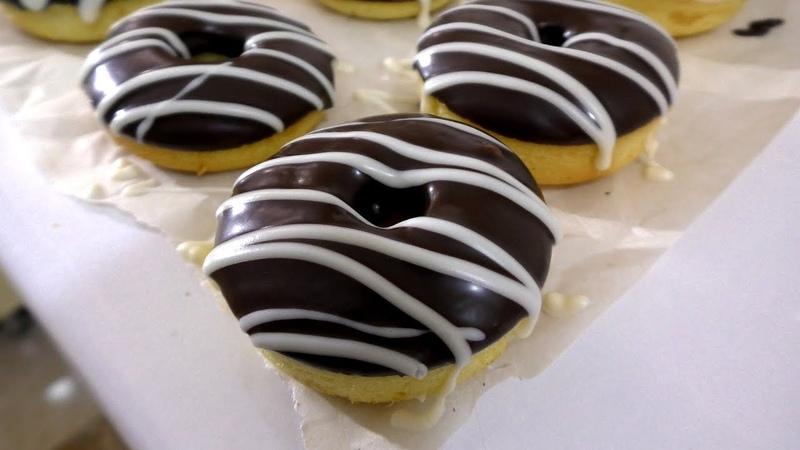 ПОНЧИКИ ЗА 5 МИНУТ время на выпечку Пончики ДОНАТС в духовке Donuts Recipe English Subtitles