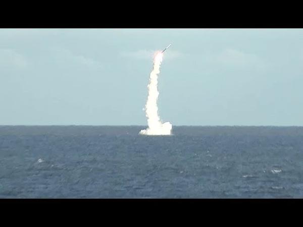 Пуск ракеты «Калибр» с атомной подлодки «Северодвинск» из подводного положения