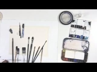 Художник Константин Стерхов: материалы и инструменты для рисования акварелью  (отрывок курса)
