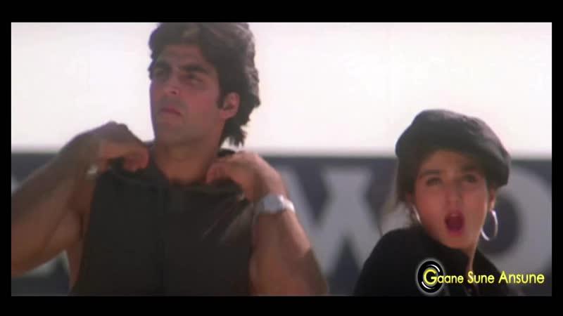 Aaj Meri Zindagi Mein Pehli Pehli Khiladiyon Ka Khiladi Акшай Кумар Равина Тандон Король игроков 1996г
