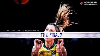 Fantastic Volleyball Block by Carol Gattaz | VNL 2021