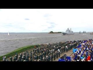 325 лет ВМФ России: лучшие моменты Главного военно-морского парада в Петербурге