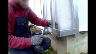 металлический профиль каркас наружного угла на обрешетку под обшивку фасадными панелями, сайдингом