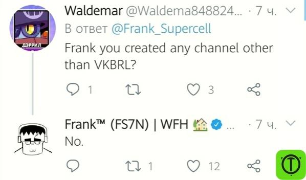 Из твиттера Фрэнка: 1) Q: Фрэнк, вы создавали