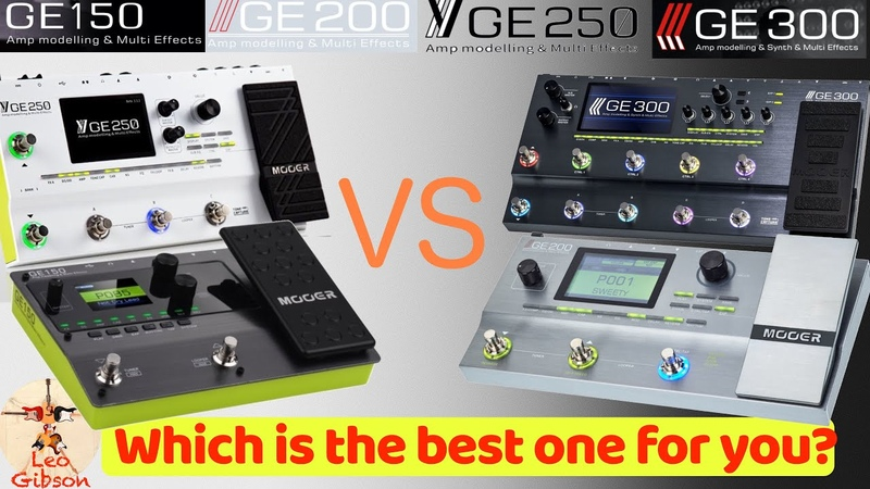 MOOER GE 150 vs GE 200 vs GE 250 vs GE 300 sound and technical differences!