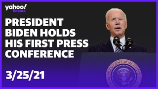 President Biden holds his 1st news conference