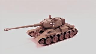 ФАНТАСТИЧЕСКИЙ танк Т-34-88 | танк т34 с пушкой от Тигра