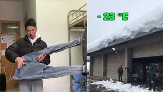 #267  Nổi Khổ Khi Có Tuyết Rơi |  Mùa Đông Ở Trung Quốc Khi - 23 °C