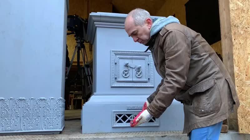 Художники реставраторы рассказали о работе над печью парка Монрепо
