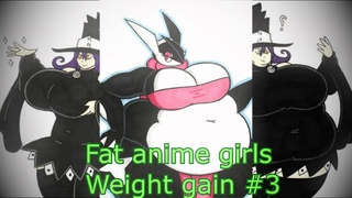 Fat anime girls weight gain #3