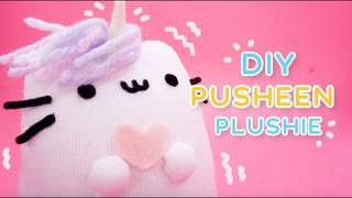 DIY PUSHEEN PLUSHIE | KAWAII SOCKS PLUSHIE | PUSHEENICORN