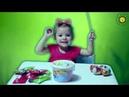 Настя открывает киндер сюрпризы - Angry Birds и Маша и медведь.Nastya opens kinder surprises!