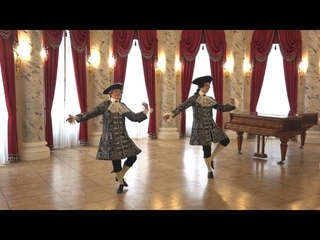 "Entree pour homme,  1701 Feuillet Choreography, Jean-Babtiste Lully ""Phaeton"""