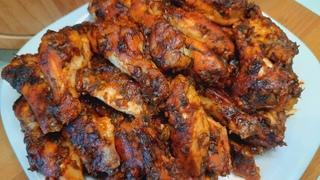 Куриные крылышки в соусе барбекю. Крылышки барбекю в духовке.