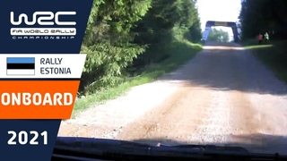 Shakedown ON-BOARD Rovanperä - WRC Rally Estonia 2021