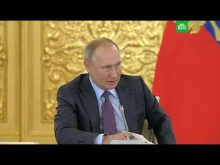 Путин о протестах: сначала бросил стаканчик, а потом стрелять начнут