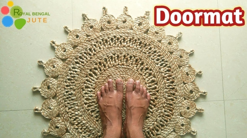 DIY Jute Door Mat Handmade Make at home it's easy Jute DIY Rug