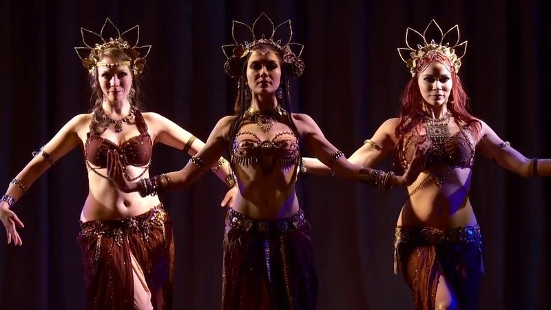 Roksana Milana Lidia temple tribal fusion trio @ Tribal Blossom Show