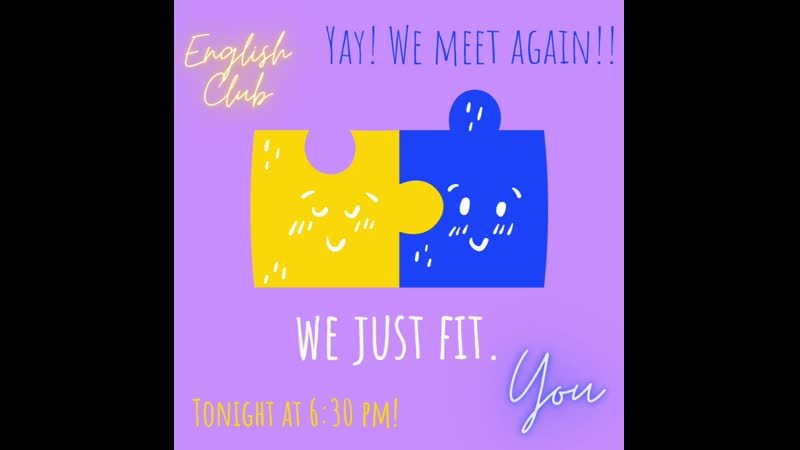 Yellow and Blue Puzzle Pieces Valentines Day Instagram