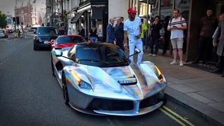 Arsenal football player Aubameyang driving his £3 Million LaFerrari in Central London!!!