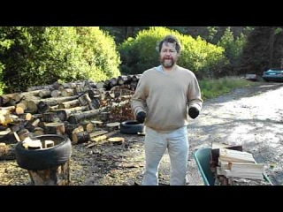 Etienne Muller Chopping Wood With His New Lever Axe