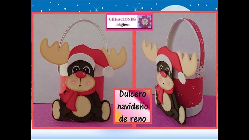 ♥♥Dulcero de reno♥Tutorial navideño 1♥Creaciones mágicas♥