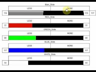 Ползунки управления групп RGBW диодными лентами