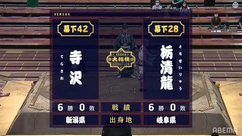 Terasawa(Ms42e) vs Tochiseiryu(Ms28w) - Aki 2020, Makushita Yusho - Day 13
