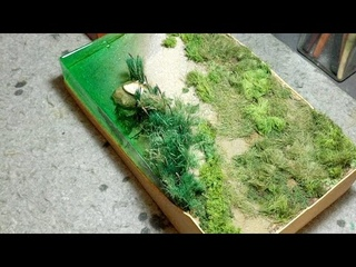 Делаем цветы для диорамы, высаживаем лен. Общаемся.