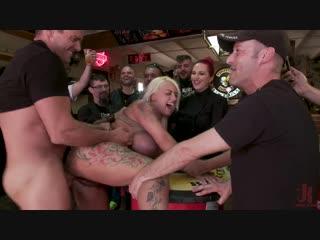 Mz Berlin, Candela X - Busty Blonde Candela X Submits In Biker Bar [Kink. Anal, BDSM, Boundage, Fake
