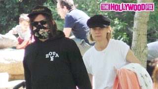 Norman Reedus & Diane Kruger Enjoy An Afternoon In The Park With Their Daughter In Beverly Hills