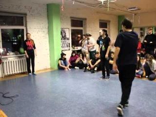 Предновогодний Joint & Jam ! Hip Hop 1x1 ! Человек Молекула(win) vs Настя vs Полина