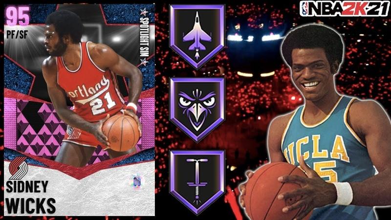 FREE SPOTLIGHT REWARD PINK DIAMOND SIDNEY WICKS GAMEPLAY HE HAS AN 8 FOOT WINGSPAN NBA 2K21 MyTEAM