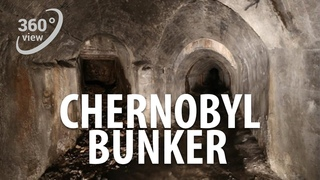 VR 360 4K Chernobyl bunker. Scary radiation victims